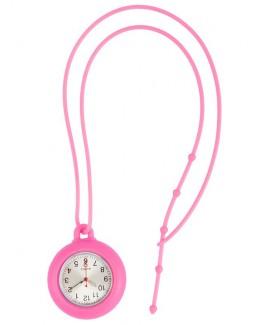 Silikon Schlüsselband Uhr Rosa