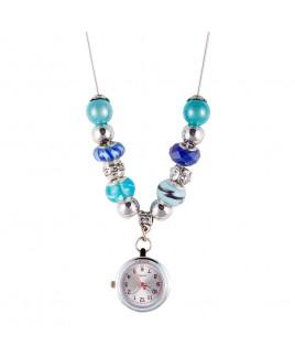 Halskette Uhr Perle Türkis